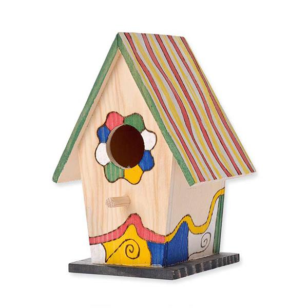 Vogelhaus Aus Holz Zum Bemalen ~ Holz  Vogelhaus, per Stk