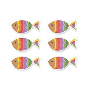 Winkler Schulbedarf Streuteile Regenbogenfisch Holz